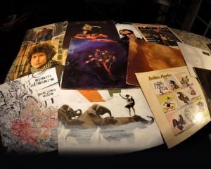 Photo of vinyl album covers
